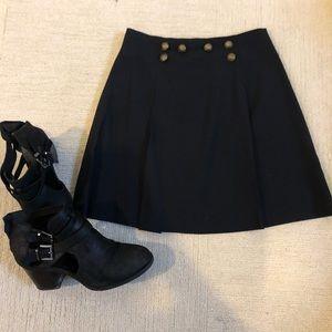 🤗VINTAGE navy pleated school girl mini skirt🤗